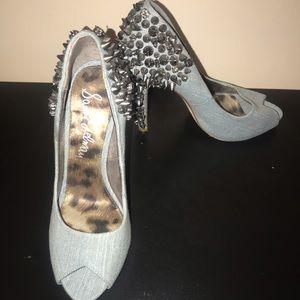 Sam Edelman studded denim shoes